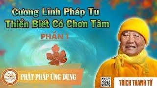Cương Lĩnh Pháp Tu Thiền Biết Có Chơn Tâm 1/2 - Thầy Thích Thanh Từ
