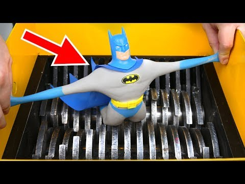 SHREDDING STRETCH BATMAN TOY! AMAZING VIDEO!