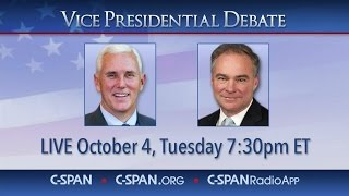 Farmville (VA) United States  city photo : VICE PRESIDENTIAL DEBATE SPLIT SCREEN (C-SPAN)