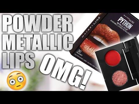 MAYBELLINE POWDER METALLIC LIPS ... OMG!!!