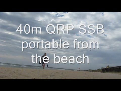 QRP SSB on 40 metres: portable from the beach