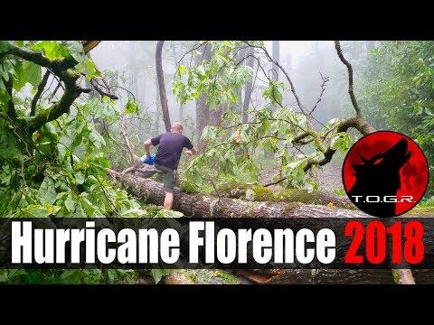 Vlogging Hurricane Florence 2018 - Mountains of NC (видео)