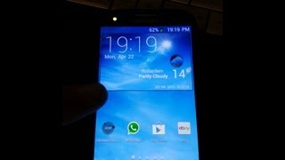 Galaxy S4 clock YouTube video