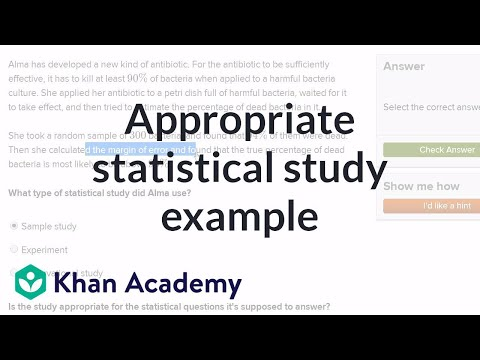 Appropriate Statistical Study Example Video Khan Academy