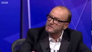 George Galloway and David Starkey on Question Time - 6th February 2014