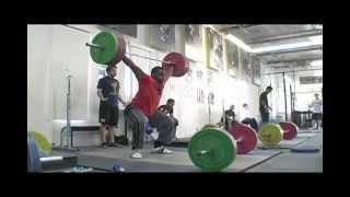 Donovan Ford 160kg Snatch - Donovan Ford works up to 160kg in t