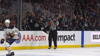 Ref makes amazing catch of flying stick by NHL