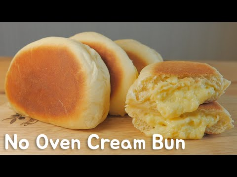 No Oven)프라이팬 슈크림빵 クリームパンレシピHow to make Cream Bun [스윗더미 . Sweet The MI] - Thời lượng: 13:41.