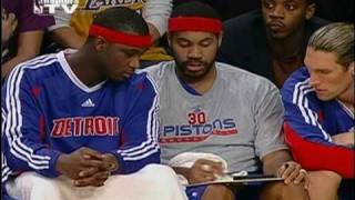 Professor Rasheed Wallace Teaches Kwame Brown