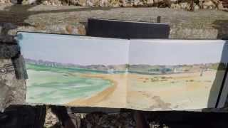 Plein Air Watercolour Painting Demo New Forest