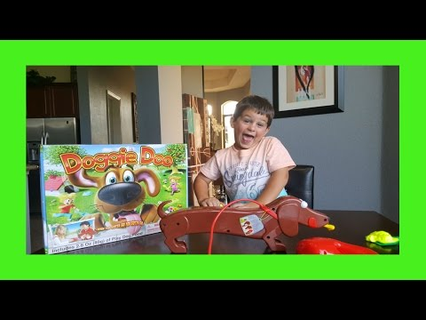 DOGGIE DOO Dog Pooping family fun game for kids With Alecs Garage (видео)