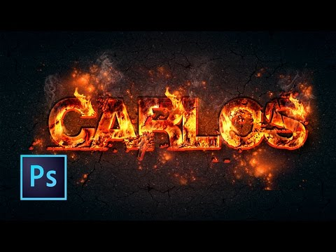 Tutorial Photoshop | Efecto Texto Fuego
