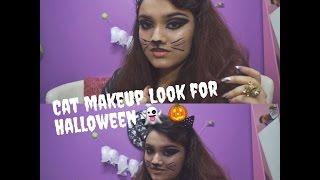 Cat Makeup Look For Halloween🎃