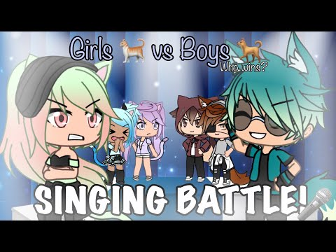 GIRLS VS BOYS SINGING BATTLE! 🎶🎤 - [CATS X DOGS] GACHALIFE ✨