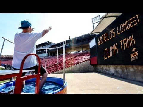 World%27s Longest Dunk Tank Throw %7C Dude Perfect