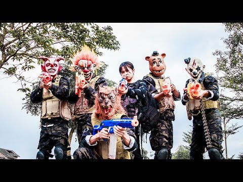 MASK Nerf War : Police Patrol Alpha Nerf Guns Hunting Missions Fight Organized Crime Group