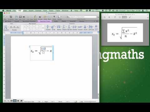 How to write equations on word