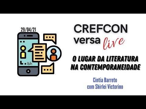 CREFCONversa_O lugar da Literatura na Contemporaneidade_29/04/21