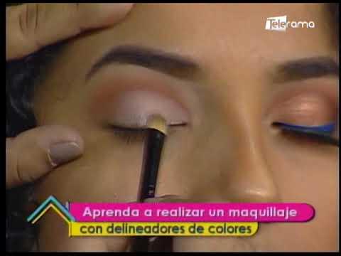 Aprenda a realizar un maquillaje con delineadores de colores