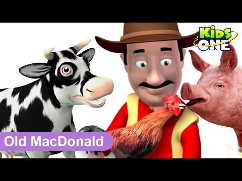 Old MacDonald Had A Farm || 3D Animation || Nursery Rhyme Song