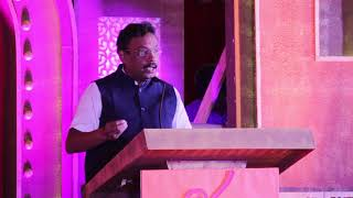 Cultural Minister Vinod Tawde addresses the closing ceremony of Akhil Bharatiya Natya Sammelan