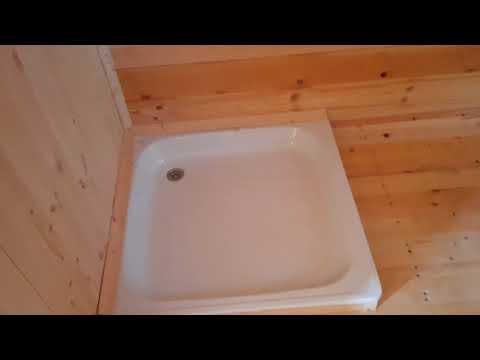 Видеообзор интерьеров мобильной бани 6,0х2,3 м из профилированного бруса