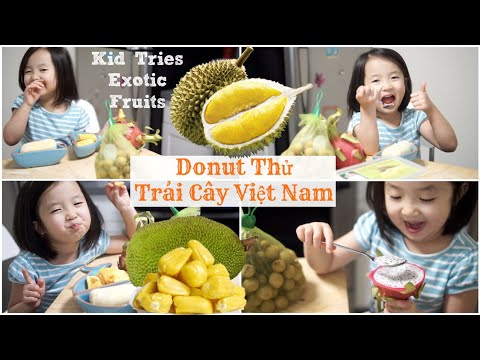 Donut Thử Sầu Riêng & Trái Cây VIỆT NAM ♥ Kid Tries Exotic Fruits | mattalehang - Thời lượng: 15 phút.