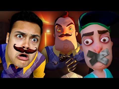 WHAT MY NEIGHBOR IS HIDING IN HIS BASEMENT (Hello Neighbor) (видео)