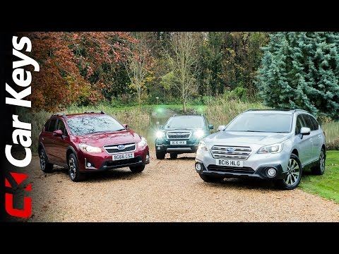 We take the Subaru XV, Subaru Outback and Subaru Forester Off-Road - Car Keys (видео)