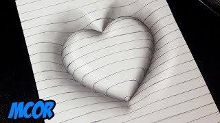 Video Como Dibujar un Corazón en 3D con Lineas - Dibujos 3D Faciles MP3, 3GP, MP4, WEBM, AVI, FLV Mei 2019