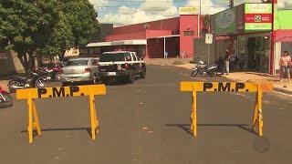 Bandidos explodem supermercado em Promissão