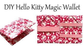DIY Basic Magic Wallet Hello Kitty Duct Tape Tutorial - How To - YouTube