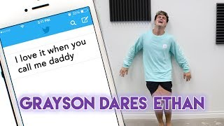 It was time for Grayson's ultimate revenge. This also explains why Ethan loves being called daddy ;)SUBSCRIBE - http://www.youtube.com/user/thedolant...Previous Video - https://www.youtube.com/watch?v=-uqeujRYaq4Ethan's StuffINSTAGRAM - https://instagram.com/ethandolan/TWITTER - https://twitter.com/EthanDolanSNAPCHAT - EthanDolanGrayson's ThingsINSTAGRAM - https://instagram.com/graysondolan/TWITTER - https://twitter.com/GraysonDolanSNAPCHAT - GraysonDolan