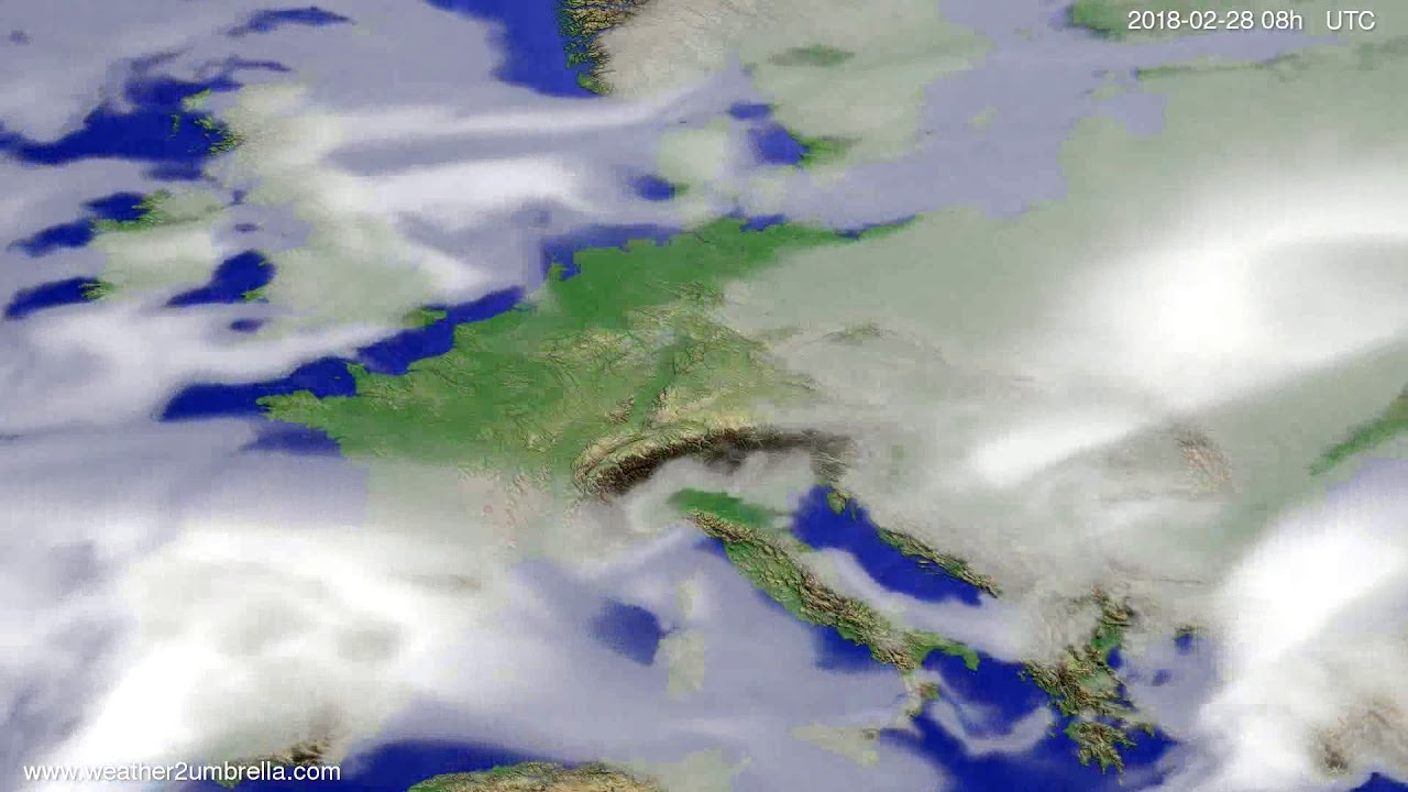 Cloud forecast Europe 2018-02-25