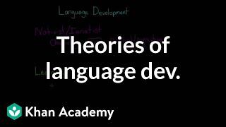 Theories of language development: Nativist, learning, interactionist   MCAT   Khan Academy