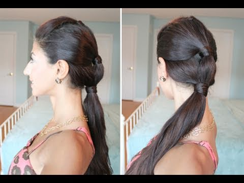 Heatless Summer Sectioned Ponytail
