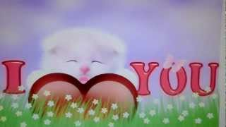 I Love You Kitty Cat Wallpaper YouTube video