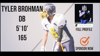 Tyler Brohman Class 2017 SB/LB/DB - HESN Football 2K15 highlights