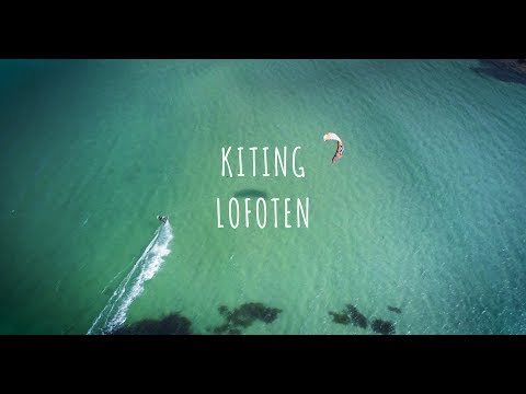 Kiting in Lofoten | Turquoise shallow waters and tall mountais (видео)