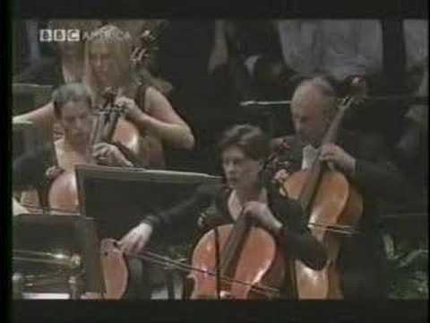 strings - Leonard Slatkin Conducts the BBC Orchestra on September 15 2001 in honor of those who lost their lives a few days prior. Visuals from BBC's 'Last Night of th...