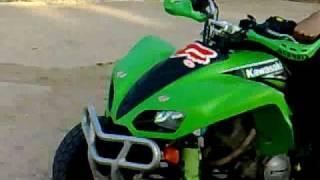 7. Kawasaki KFX 700 Road legal in action