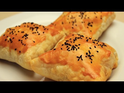 Chicken Stuffed Puff Pastry Borek - Baked Chicken Pie Recipe