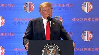 Video Trump speaks after historic summit with Kim Jong Un MP3, 3GP, MP4, WEBM, AVI, FLV Juni 2018