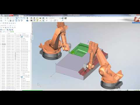 Double synchronous milling for robots KUKA