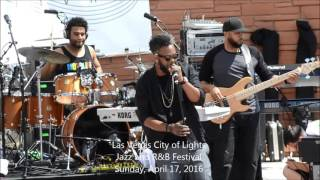 Dwele Opens the Sunday Afternoon Show at the Las Vegas City of Lights Jazz and R&B Festival