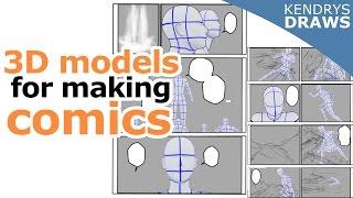 Using 3d models for making comics