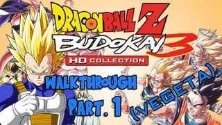 Dragon Ball Z HD Collection Walkthrough - Budokai 3 (Vegeta) Pt. 1