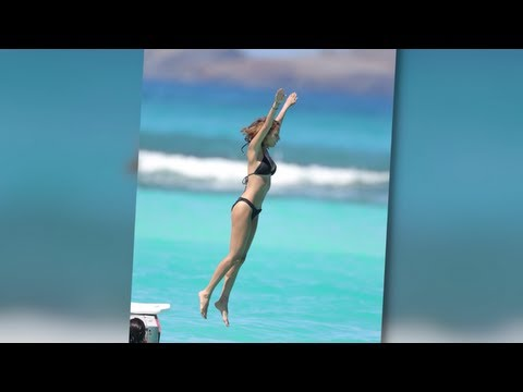 Nicole Richie Takes a Dive in a Tiny Bikini in St. Barts