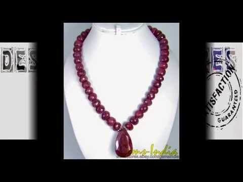 ONE OF A KIND NATURAL RUBY NECKLACE HUGE BEADS