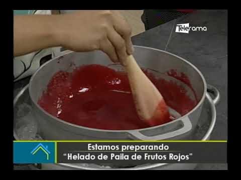 Hoy en la cocina: Helado de paila de frutos rojos